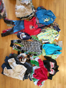 Lot of 58 size 24 months 24 mois  boys clothes garcon look !