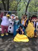 Un moment memorable ( Princesses,Mascottes) Fête d'enfant