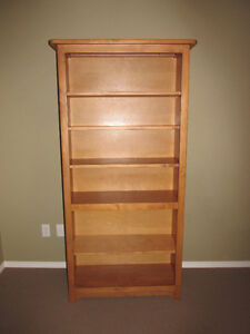 QUALITY SOLID Pine Bookcase SHELVING UNIT Good Cond.