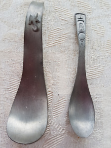 Vintage Pewter Collectible Spoons