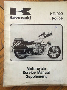 Kawasaki 1982 KZ1000 CHP Police Service Manual Supplement