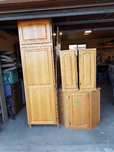 Oak Panty and Cabinets