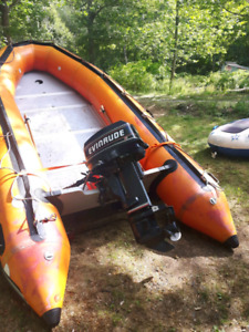 14.5 ft zodiac inflatable 25hp motor