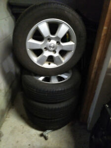 Nissan Versa SL alloys wheels and new radial tires