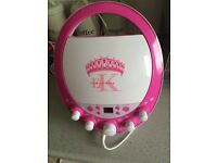 Pink karaoke machine AS NEW