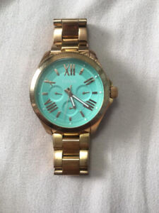Rose Gold and Turquoise Fossil Watch