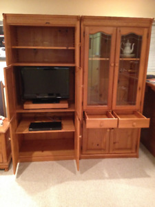 Solid Pine Hutch or Wall Unit