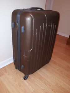 Hard Shell, Brown Large Suitcase, Luggage