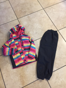 Girls Size 4/5 XMtn lined fall splash suit