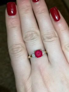 14k gold Ruby ring size 7.3