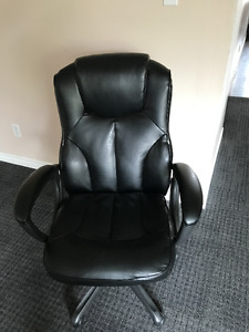 Black Leather Office Chair For Sale