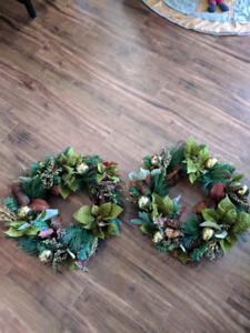 "Two 16"" wreaths"