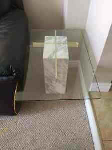 Marble Base Glass Top Coffee and End Tables Kitchener / Waterloo Kitchener Area image 5