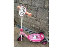 Girls bike, Hello Kitty scooter, Minion skateboard