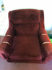 4 PCS. SET CHESTERFIELD/COUCH, LOVE SEAT, CHAIR AND OTTOMAN