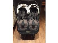 Baby jogger city mini double bugger stroller twin