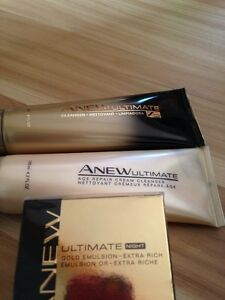 """AVON """" ANEW"""" ULTIMATE FACE CLEANSERS AND CREAM"""