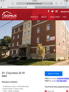 Student housing close to The University of Waterloo