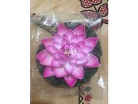 Artificial Plant Lotus Decoration for Aquarium EVA plastic Water pink Color PK
