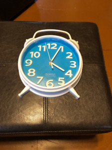 White and Blue Clock