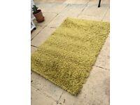 Green sparky shaggy rug