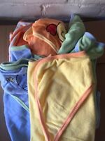 5 hooded baby towels