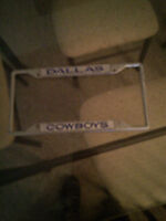 """Dallas Cowboys"" license plate frame,"