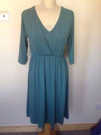 Green nursing dress size 10 Asos