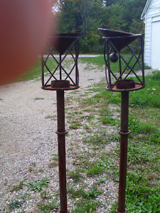 oil lamp stands