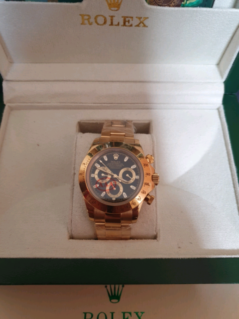 Day-tona gold with black dial watch | in Moston, Manchester | Gumtree