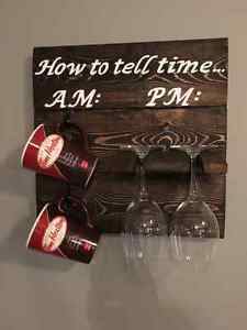 Wine and Mug Wall mount