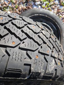 Winter Tires Studded Snowtrakker On Rim p205/55r16