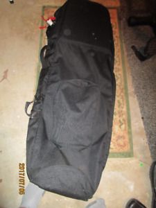 "Golf Travel Soft Cover Bag Black 48"" long w/shoe/equip. pockets"