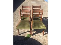 4 ANTIQUE CHAIRS VERY STURDY SHABBY CHIC ( DELIVERY)