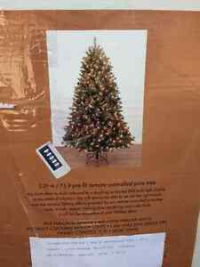 Pre lit premium 7.5 ft Christmas tree and ornaments