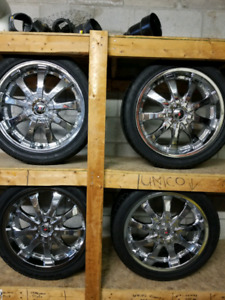 "MPW 18"" Chrome Rims and Tires 245/40ZR18 97W XL"
