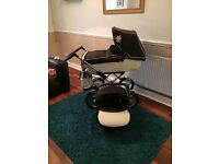 Silver cross pram and pushchair and car seat and changing bag