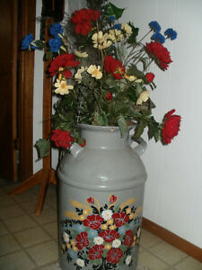 HAND PAINTED MILK CAN'S ~ BUY ONE OR BUY BOTH ~NEW PRICE~