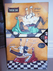 Set of Vespa pictures (cool for a bar)