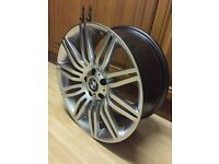 "BMW 19"" Spyder Alloy wheel Spider 19x8.5 Style 172 Front E60 M-sport 530d 535d"