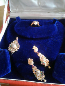 Vintage earrings and broach  and ring
