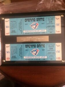 Unused Blue Jays opening day tickets 1977