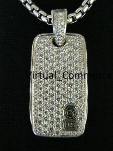 David-Yurman-Chevron-Pave-Diamond-Necklace-3CT-DOG-TAG