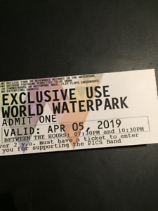 WEM Waterpark Tickets