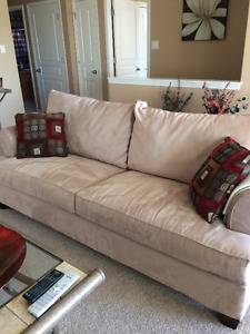 For sale, sofa and love seat set