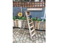 Quality heavy solid wooden stepladder wedding prop towel rails shop prop shelving