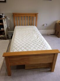 Child's pine single storage bed M&S Hastings