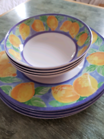 CHARITY SALE Set of plastic plates and bowls