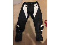 Men's frank Thomas leather motorcycle trousers
