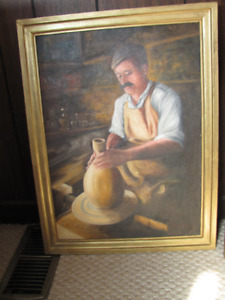Antique portrait in oil REDUCED!!!